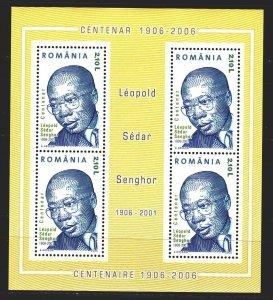 Romania. 2006. bl372. Sengor, President of Senegal, poet and philosopher. MNH.