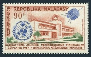 Malagasy C78,MNH.Michel 519. UN World Meteorological Day,1964.Satellite.