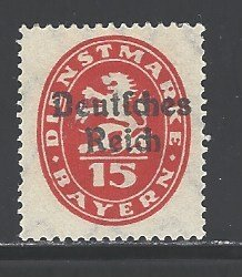 German States - Bavaria Sc # O54 mint hinged (RS)