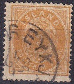 Iceland #15 F-VF  Used CV $30.00 (Z6446)