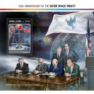 SIERRA LEONE - 2017 - 50th  Anniv Outer Space Treaty - Perf Souv Sheet - M N H