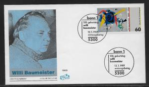 Germany 1569 Bluxao I by Baumeister Unaddressed FDC