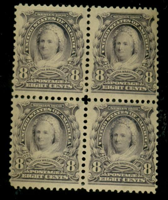 306 MINT Block F-VF OG LH Cat$175
