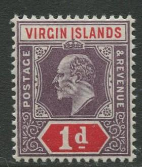 Virgin Is.- Scott 30 - KEVII Definitive -1904 - MNH -Wmk 3 - Single 1p Stamp