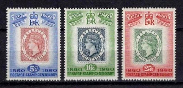St Lucia 1960 Stamp Centenary Set