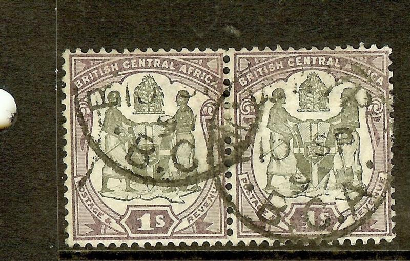 BRITISH CENTRAL AFRICA ARMS (P2306B) ARMS 1/- SG47  PR CDS  VFU