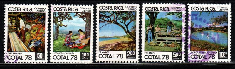 Costa Rica # C706-10 ~ Cplt Set of 5 ~ Used, HMR