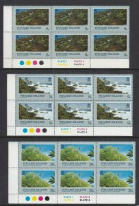 PN161) Pitcairn Islands 1981 Landscapes MUH blocks of 6