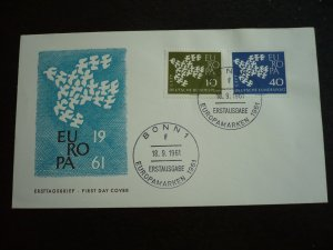 Europa 1961 - Germany - Set - First Day Cover
