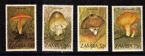 Zambia Mushrooms #315-318  4 var  mnh