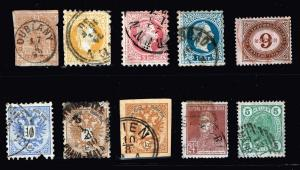 AUSTRIA STAMP OLD USED STAMP COLLECTION LOT
