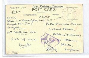 CS301 Ceylon Colombo Violet CDS Postcard  {samwells-covers}