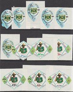 SIERRA LEONE 1969 Diamond Jubilee of Scouting set complete MNH..............B924
