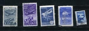 Russia 1947 and up Airmail Used 7079