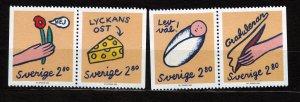 J22906 JLstamps 1992 sweden set mnh #1957-60 greetings stamps