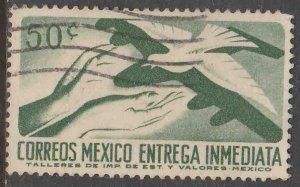 MEXICO E18, 50¢ 1950 Definitive 2nd Printing wmk 300. USED. F-VF. (1476)