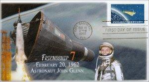 A0-1193-1, 1962, Friendship 7, John Glenn,  FDC, SC 1193, Mercury