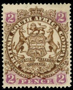 RHODESIA SG43, 2d brown & mauve, M MINT. Cat £32. DIE II