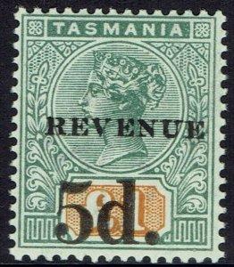 TASMANIA 1918 QV TABLET REVENUE 5D ON 1 POUND MNH **