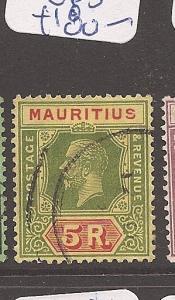 Mauritius 1913 KGV 5R SG 203b VFU (9asy)