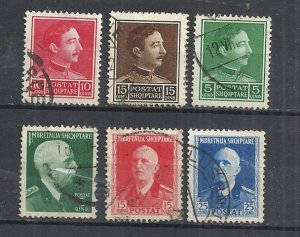 ALBANIA - KING ZOG I AND KING VICTOR EMMANUEL III - USED