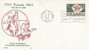 CFD14) Canada 1963 200th Anniversary Of Quebec-Trois-Rivieres-Montreal P/S FDC