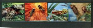 BHUTAN 1969 Sc#101-101C FAUNA/INSECTS SET OF 4 STAMPS 3D MNH