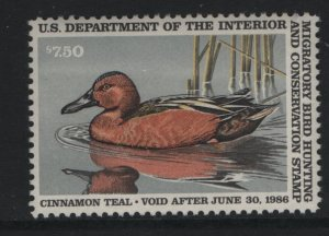 US, RW52, 1985, MNH, DUCK STAMP