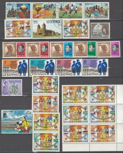 COLLECTION LOT # 53L LESOTHO 29 STAMPS CLEARANCE