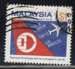 Malaysia Scott 342 used Malaysian Airlines stamp