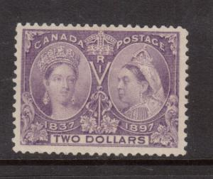 Canada #62 Extra Fine Mint Full Original Gum Lightly Hinged With Certificate