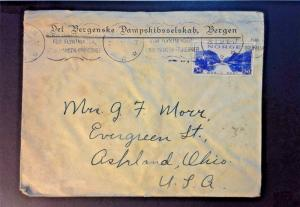 Norway 1938 Cover to USA (Stained) - Z775