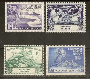 Falklands 1949 UPU Set MNH