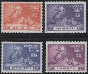 New Hebrides - British Issues 62-65 MNH (1949)