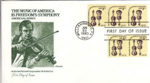 1980, Music of America, Artmaster, FDC (D14345)