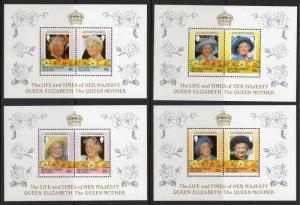 British Virgin Islands 1985 Queen Mother 85th.Birthday/Daisy Flowers 4 DELUXE SS