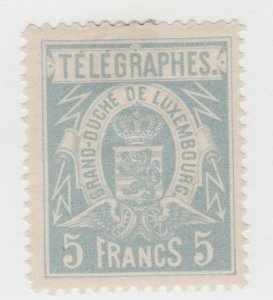 Luxembourg TELEGRAPH Fiscal tax Revenue stamp 6-6-21- gum - tiny hinge remnant