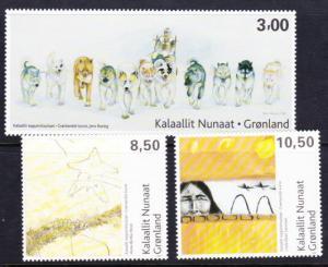 Greenland #560-62 MNH art series