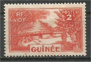 FRENCH GUINEA, 1938, MH 2c  Village Scott 128