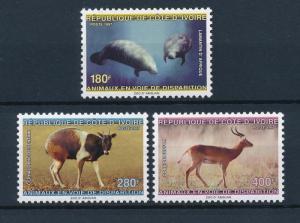 [40507] Ivory Coast 1997 Animals Manatee Duiker Waterbuck MNH