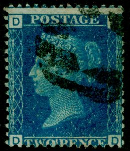 SG47, 2d dp blue plate 14, USED. Cat £38. DD