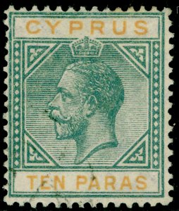 CYPRUS SG86, 10pa grey & yellow, FINE USED.