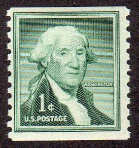United States 1054 - Mint-NH - 1c George Washington (Coil) (1960)