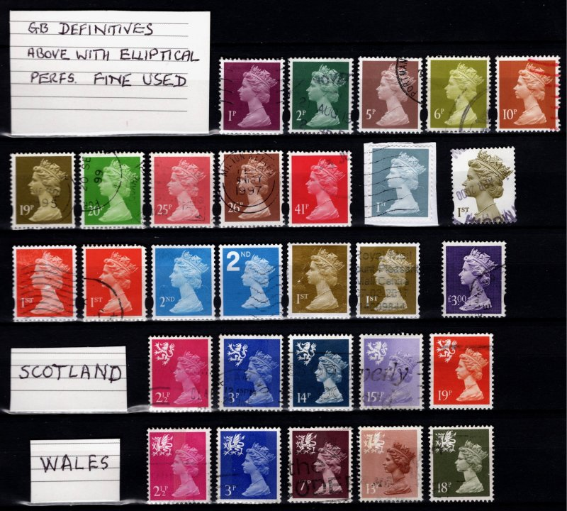Great Britain 1970+ Machin Definitives (73 all different) [Used]