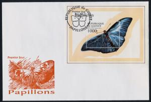Guinea 1430 on FDC - Butterfly