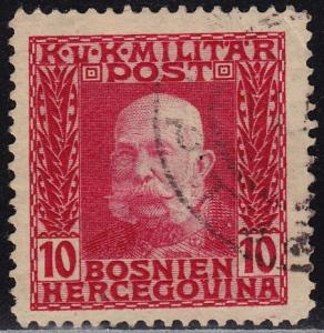 Bosnia & Herzegovina - 1912 - Scott #70 - used - Franz Josef