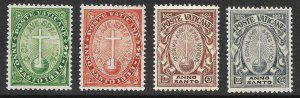 Doyle's_Stamps: MH 1933 Vatican City Semi-Postal Set, Scott #B1* to #B4*
