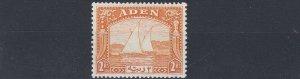 ADEN  1937  S G 10  2R  YELLOW   MH
