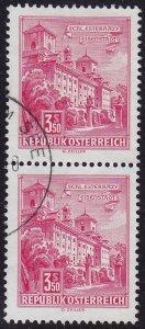 Austria - 1962 - Scott #699 - used pair - Eisenstadt