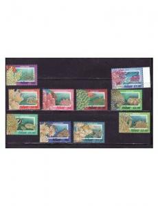 Niue - Coral - 10 Stamp  Set  - 14H-004